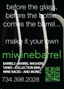 MI wine barrel ad