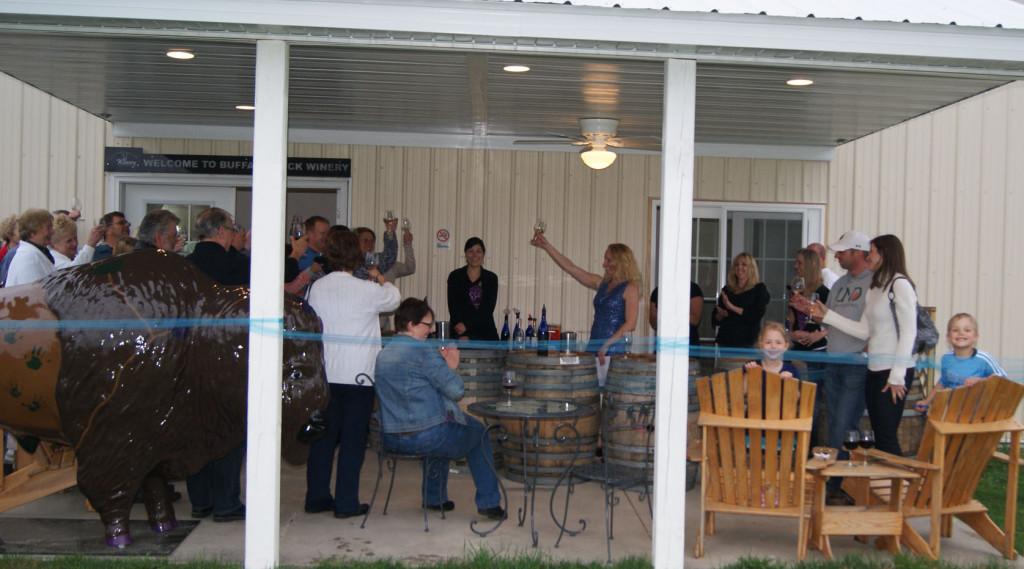 Opening night at the new wine porch at Buffalo Rock Winery