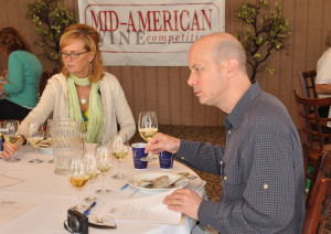 Lauren Chalupsky-Cannon of The Secret Wine Cellar and Mark Ganchiff of Midwest Wine Press