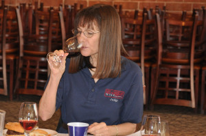 Sommelier Ellen Landis at the Mid-American Wine Competition