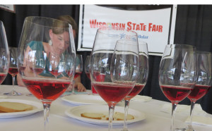 Katie Cook from the University of Minnesota at the Wisconsin State Fair Wine Competition.