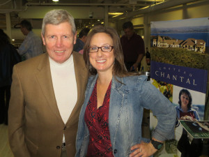 Jack Ferrel of Mariano's and Kelly Kniewel, Fresh Coast Distributors