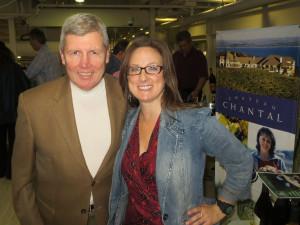 Jack Ferrel of Mariano's and Kelly Kniewel, Fresh Coast Distributors