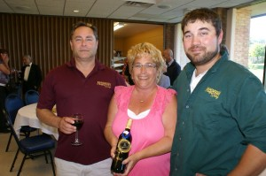 Ralph, Laurie and Dustin Stabile of Mackinaw Trail Winery which opened a new tasting room just outside Petoskey during January.
