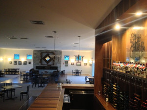 The new tasting room at Alto Vineyards in Alto Pass, Illinois