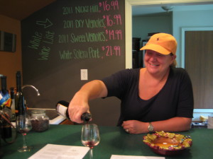 Cathy Bommarito-Manley in her tasting room