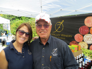 Dick Faltz and Erica Hurley from Fox Valley Winery in Oswego