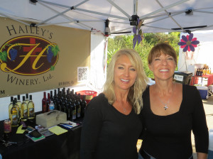 Cheryl Spana and Ginger Baerenwald of Hailey's Winery in Byron
