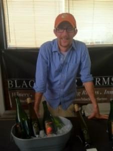 Josh Morgan cellar master at Michigan's Black Star Farms at the