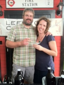 Bryan and Jen Ulbrich of Left Foot Charley at Uncle John's Ciders