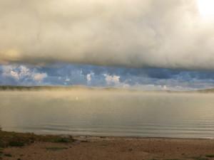 A September sunrise at Waloon Lake near Petoskey, Michigan