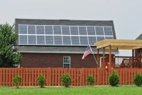 Rooftop solar panels installed by Harvest Energy Solutions