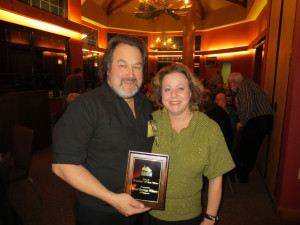 Steve and Andrea DeBaker with the 2012 Wisconsin Winery of the Year Award
