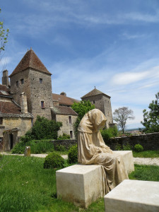 This mediveal monestary in Burgundy France still produces wine grapes today.