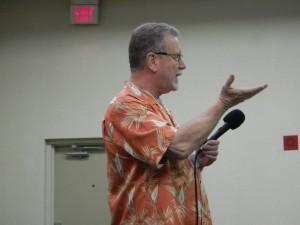 Michael Jones during his oxidation talk