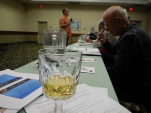 An oxidation taste test during the talk involving an Australian Hunter Valley Semillon