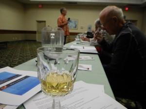 An oxidation taste test during the talk involving an Australian Hunter Valley Semillon