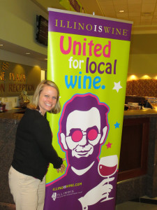 Megan Pressnall of the Illinois Grape Growers and Vintners Association