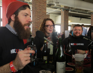 WBEZ radio broadcasting from Cider Summit while drinking massive amounts of cider.  Nicely done!