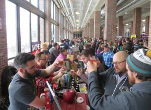 Michigan's Red Streak Cider in foreground