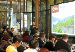 Master Sommelier Jesse Becker explains the finer aspects of Austrian wine at City Winery Chicago