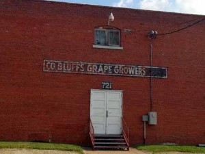 The Council Bluff Grapes Growers building still stands today in Council Bluffs, Iowa.