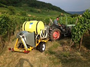 An ozonator in action at Schoepfer-Muller Vineyards in Alsace, France