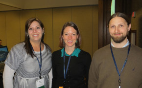 Nancy Oxley of St. Julian, Amanda Stewart of Virginian Tech and Brian Hosmer of Chateau Chantal at the 2014 Michigan Wine Conference