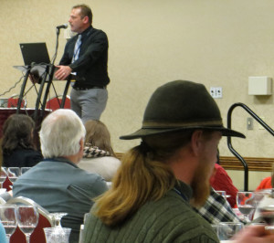Todd Steiner of Ohio State University explains wine flaws to an overflow audience