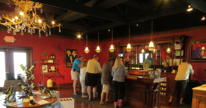 The tasting room at Gill's Pier Winery in the Leelanau Peninsula