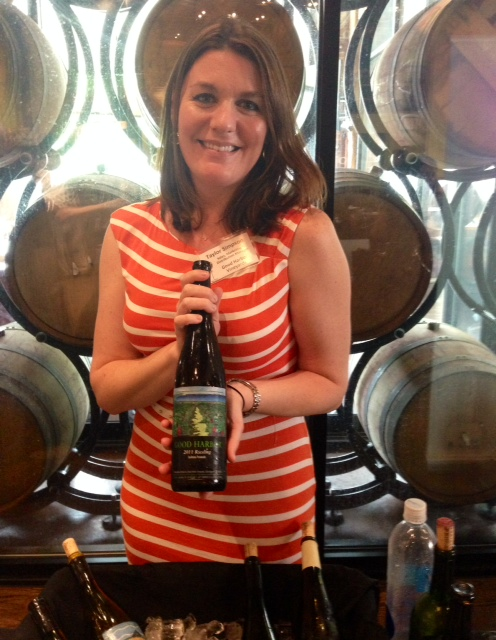 Taylor Simpson of Good Harbor Vineyards in the Leelanau Peninsula was a lead organizer of the event