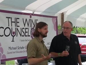 Brian Hosmer of Hawthorne Winery (left)