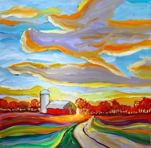 My most current work which is all about the light. In any seasonit is the light that makes the landscape come alive