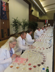 Nancy Bandy of Davidson College in North Carolina and Todd Steiner of The Ohio State  University have a world of wine to evaluate.