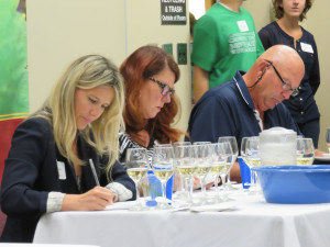 From left to right, 2014 Cold Climate Competition Wine judges Leslie