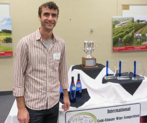 Aaron Berdorfe, board member, Minnesota Grape Growers Association.