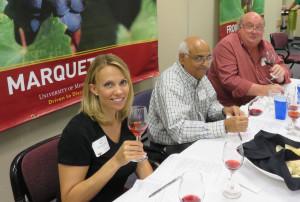 Jennifer Chou, The Saavy Grape; Murlib  Dharmadhikari, The University of Iowa and national wine columnist Bill Ward, retired from the Minneapolis Star Tribune.