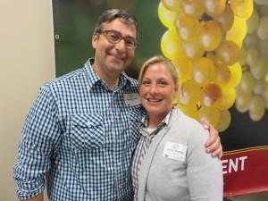 Brad Beam, Illinois State Enologist and Jennifer Bradley of the University of Minnesota.