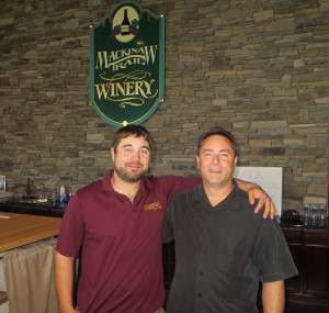 Dustin and Raph Stabile of Mackinaw Trail grow their own wine grapes and also grapes from other Michigan grapegrowers.