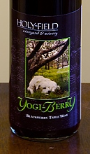 Holy-Field's Yogi Berry Wine  label (courtesy winery)