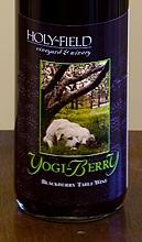 Holy-Field's Yogi Berry Wine  label (courtesy winery)