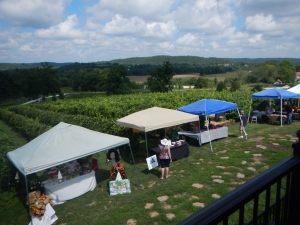 Saturday market at Chandler Hill Vineyards