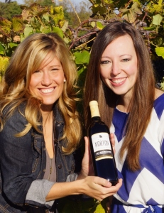 Rachel Holman (left) and Tia Stratman from Les Bourgeois Vineyards (courtesy winery)
