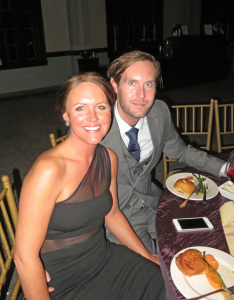 Tyler Madison of the Kentucky Department of Agriculture Grape and Wine Marketing Program and his wife, Coleen Cox.