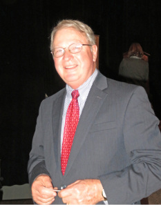 Eddie O'Daniel of Springhill Winery,  winner of the Jean Jacques Dufour Award for contributions to the Kentucky wine industry
