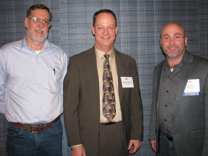 Jim Butler (Butler Winery), State Senator Mark Messmer (R-Jasper, IN), and Dennis Dunham (Oliver Winery) at the 40th Anniversary Celebration & Reception