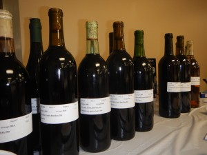 Bottles line up to be judged