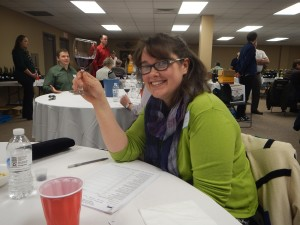 Maddie Hines, wine judge and VESTA student