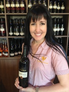 Tina Martyn, tasting room supervisor for Capercaillie Wine