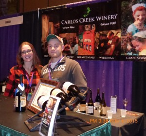 Michelle Baily, director of events, and Asst Winemaker Brett Murphy from